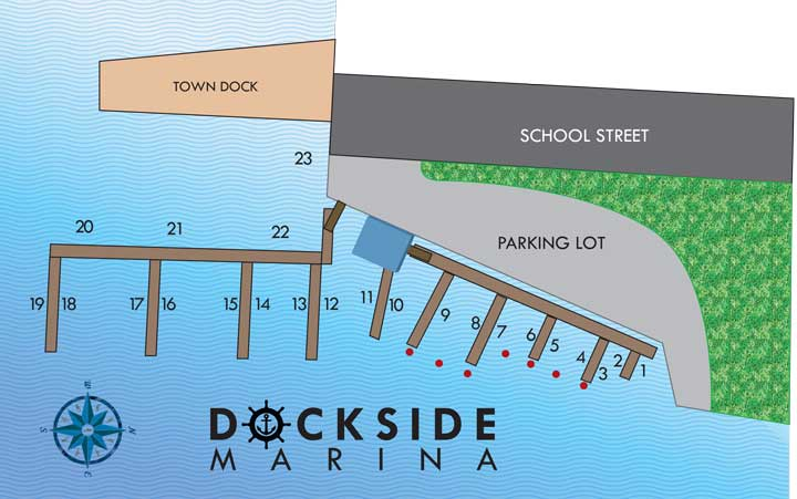 Dockside Marina Map